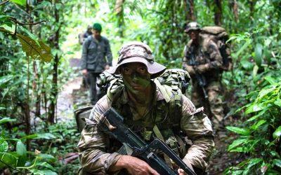 Members from 3rd Battalion, Royal 22e Régiment prepare for jungle warfare
