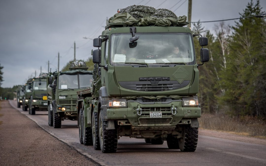 MSVS logistic trucks steer through first deployment in Latvia
