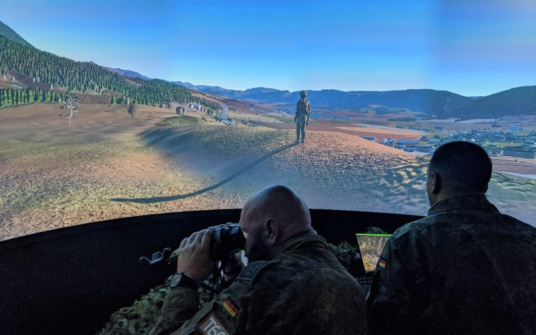 Bagira's Fire Support Training Simulators Participated in the Multination Bison Strike Exercise